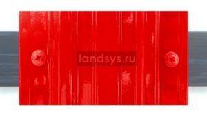 Крепеж_штакетника_саморезами_ral_в цвет красный