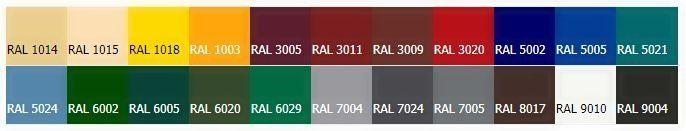 цвета покраски штакетника ral