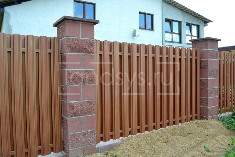 забор из евроштакетника юникс премиум примеры в москве -22