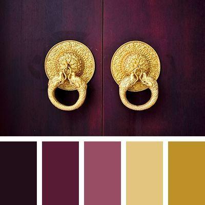 сочетание золотого цвета палитра 2269