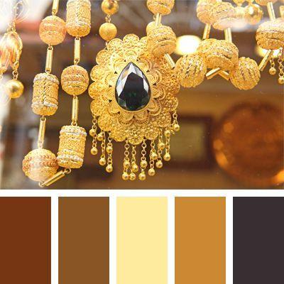 сочетание золотого цвета палитра 607
