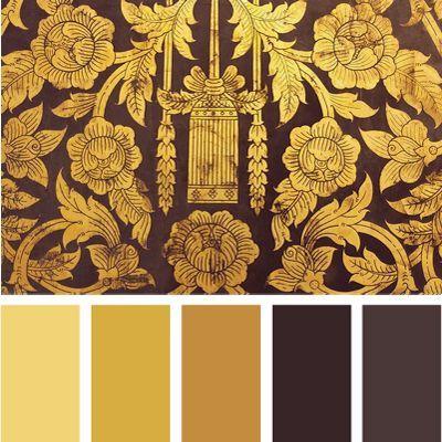 сочетание золотого цвета