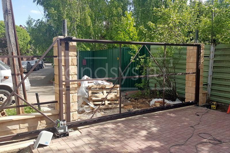 установка автоматики откатных ворот