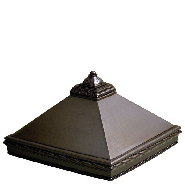 Кoлпак на столб 1.5 с навершием Листья